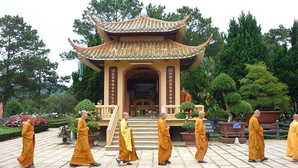 Lầu chuông thiền viện Trúc Lâm Đà Lạt